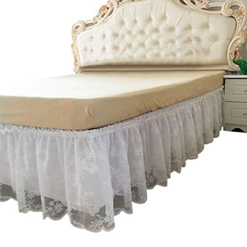 Lace Wrap Around Wrap - FREAHAP R Wrap-Around Lace Bed Skirt Dust Cover Ruffle Bed Sheet Case 14.96