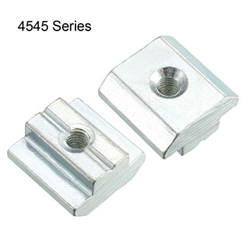 M5 Threaded for 4545 Series Aluminum Extrusion Profile Slide on T-nut Pack of 4