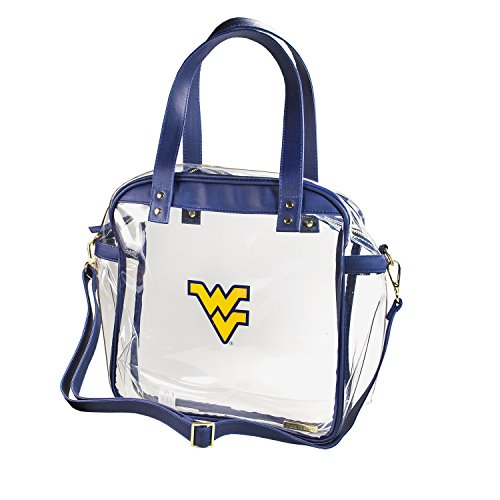 CAPRI DESIGNS CLEARLY FASHION LICENSED STADIUM COLLECTION CARRYALL TOTE---MEETS STADIUM REQUIREMENTS (West Virginia University) by CLEARLY FASHION
