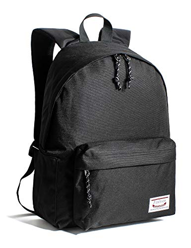 Leaper Classic School Backpack Unisex Travel Bag Bookbag Satchel Daypack Black -