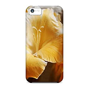 LJF phone case Cute Appearance Cover/tpu RhLVRqE3627illKl Gladiolus Sword Lily Perennial Bulbous Flowering Plants Case For Iphone 5c