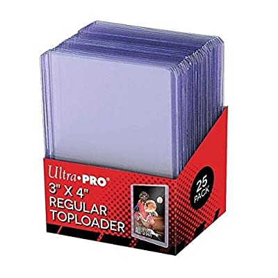 Ultra Pro 25 3 X 4 Top Loader Card Holder for Baseball, Football, Basketball, Hockey, Golf, Single Sports Cards Top Loads - Sportcards Card Collecting Supplies (2 Pack) (1 Pack): Sports & Outdoors