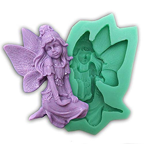 Diyclan Fairy Angel Style Silicone molds for Cake Decorating Fondant Cake Mold Chocolate soap Mould Cake Tools Kitchen F0246TS35[F0246TS]