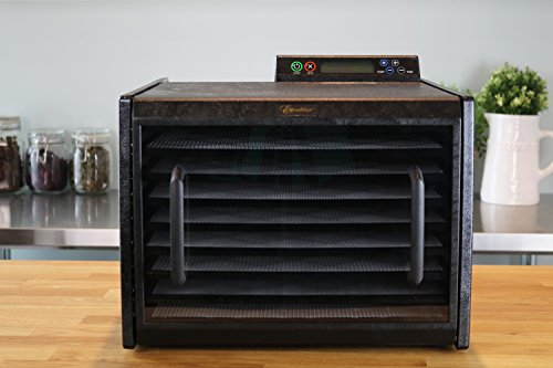 Excalibur 3948CDB Electric Food Dehydrator for Viewing Thermostat Shut Feet of Drying Space Made USA, 9-Tray, Black