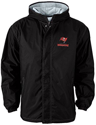 Tampa Bay Buccaneers Jacket (Dunbrooke Apparel NFL Tampa Bay Buccaneers Legacy Nylon Hooded Jacket, X-Large, Black)
