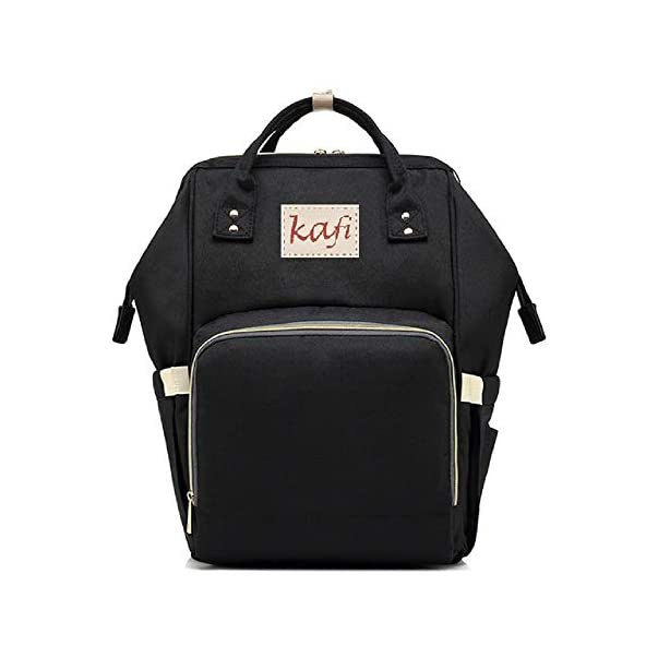 Baby Diaper Bag, Stylish Nappy Bag with Bottle Warmer and Changing Mat, Multi-Purpose Maternity, Travel Backpack, Handbag, Shopping Bag with Stroller Hooks, Shoulders Backpack (Black)
