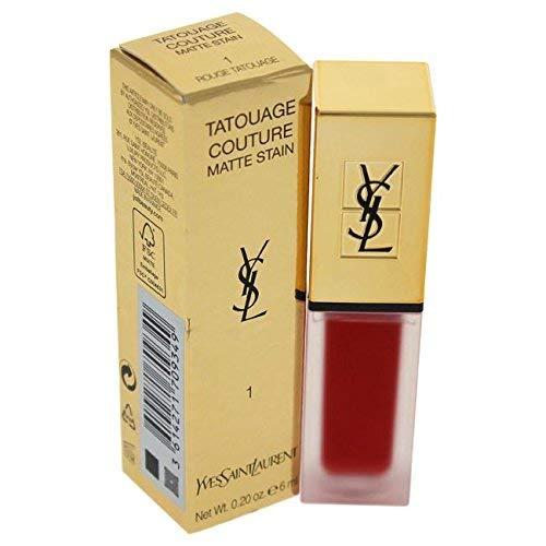 Yves Saint Laurent Tatouage Couture Liquid Matte Lip Stain 1 Rouge Tatouage for Women, 0.2 Ounce by Yves Saint Laurent