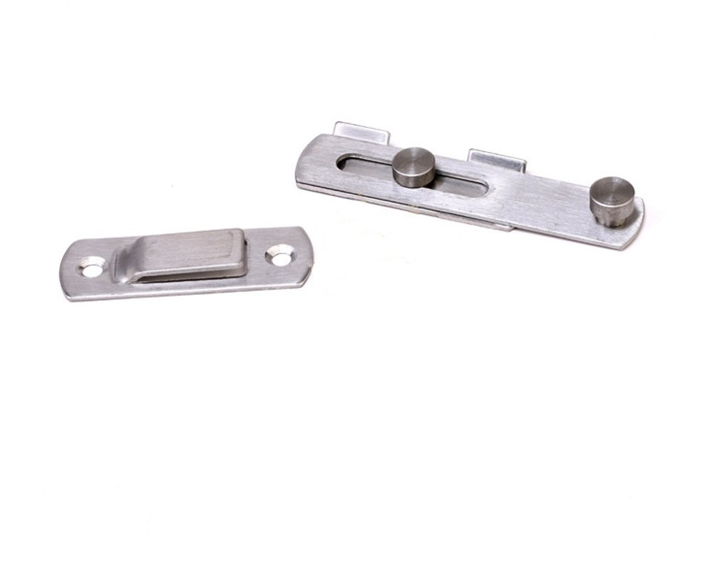 XVL Stainless Steel Flip Latch Gate Latches Bar Latch Safety Door Lock,Brushed Finish M107A by XVL (Image #4)
