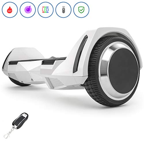 Spadger Hoverboard with BLE Speaker & LED Light, UL 2272 Certified Self Balancing Scooter, 6.5''...