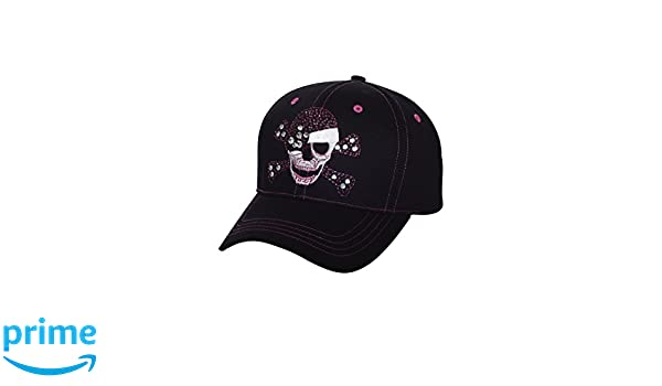 Fashion Cap W// Fiber Optic Lights-6857 Str Womens Low Profile