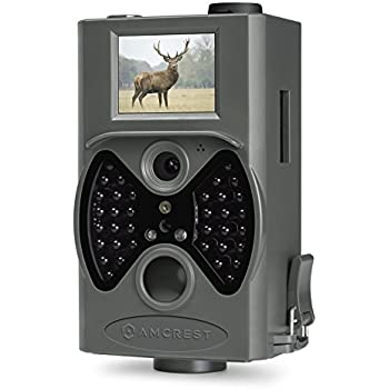 """Amcrest 12MP Game & Trail Camera 2"""" LCD screen, 100° FOV, 65 ft Night Vision, Highly Sensitive Motion Detection, Detachable Laser Remote (ATC-1201G)"""