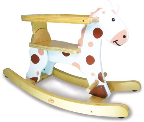 Vilac Vilac1107 My First White Rocking Horse and Removable Hoop
