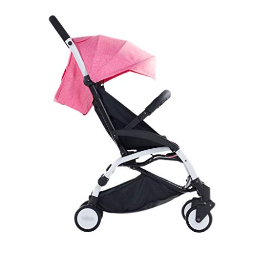 Baby Strollers Ultralight Easy Pocket Pushchairs Prams Portable Strollers Buggies Folding Can Sit Children Kids Travel Pushchair (Color : Rose Red, Size : 26.7715.7440.55inchs)