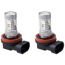 Putco 250008W Optic 360 H8 High Power LED Fog Lamp Bulb,Pack of 2