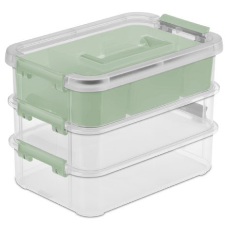 Sterilite Stack & Carry 3 Layer Handle Box & Tray (Set of 1)