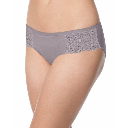 Bali One Smooth U Comfort Indulgence Satin with Lace Bikini 2829 6, Warm Steel