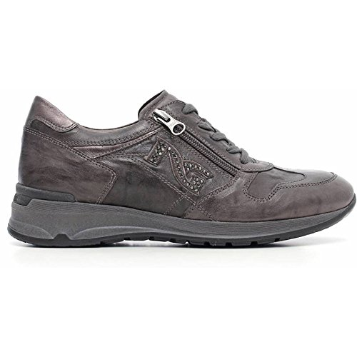Sneaker Donna in Camoscio Grigia A616055D-109 - Nero Giardini