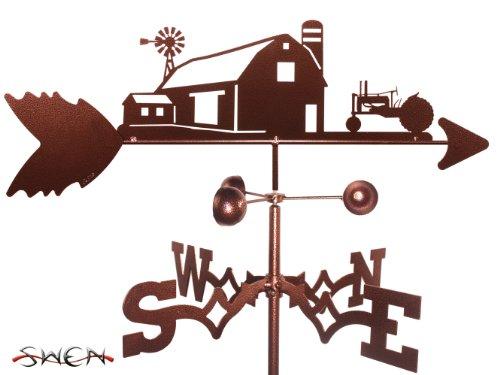 Farm Scene Green Tractor - FARM SCENE JOHN DEERE GREEN TRACTOR GARDEN Stake Weathervane ~NEW~