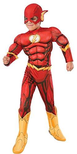 Costumes Flash (Rubie's Costume DC Superheroes Flash Deluxe Child Costume, Medium)