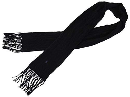 Cashmere Blend Cable Knit - Polo Ralph Lauren Womens Wool Cashmere Blend Cable Knit Scarf Black