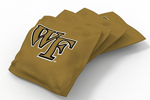(Wild Sports NCAA College Wake Forest Demon Deacons Gold Authentic Cornhole Bean Bag Set (4 Pack))