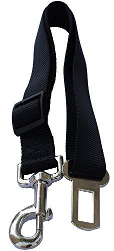Lanyarco Black Pet Dog Adjustable Car Automotive Seat Safety Belt Vehicle Seatbelt leash lead Travel For Small / Medium / Large Dogs,Cats