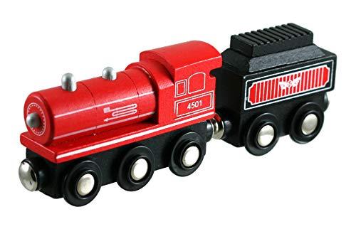 Li'l Chugs Wooden Trains - Steam Locomotive and Coal Tender - - Little Train Chug