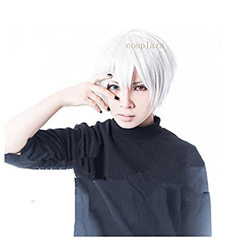 cosplaza Perú esquina Tokyo Ghoul kaneki Ken White Short Unisex Cosplay Wig