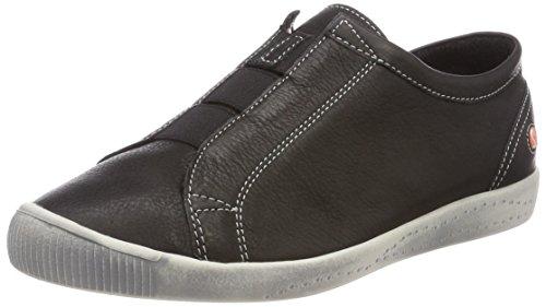 Softinos Damen Ini453sof Smooth Slipper Schwarz (Black)