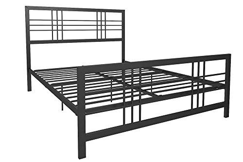 DHP Burbank Modern Design Metal Bed, Black - Queen - In Stores Burbank