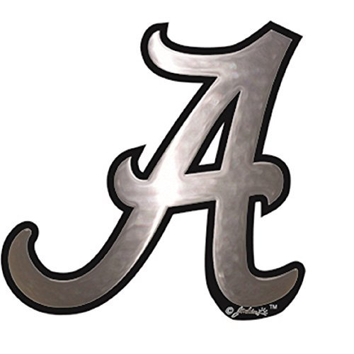 Jenkins Enterprises Alabama Crimson Tide Silver Tone Auto Emblem ()