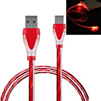 GLVSZ LED Light Micro USB Charger Cable Charging Cord for Samsung Galaxy s7 Edge RD