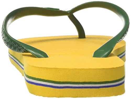Adulto Yellow Havaianas Logo Infradito Brasil Unisex banana HwTYIqw