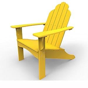 Malibu Outdoor Living Yarmouth Adirondack Chair, Yellow