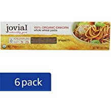 Jovial Organic Whole Grain Einkorn Spaghetti, 12-Ounce Packages (Pack of 6)