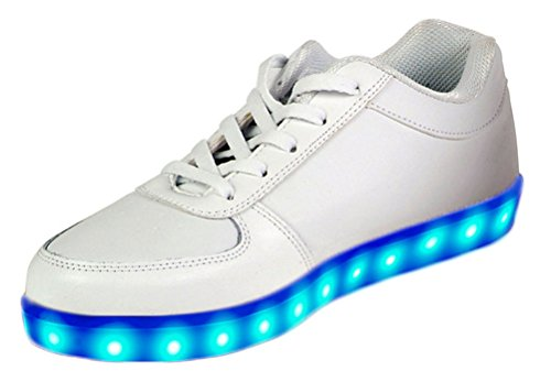 GlowCity LED Light Up Shoes Men's 7=Women's 8.5