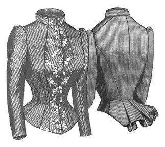(1884 French Vest Bodice Pattern)