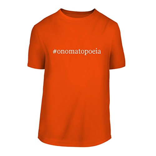 #onomatopoeia - A Hashtag Nice Men's Short Sleeve T-Shirt Shirt, Orange, Large