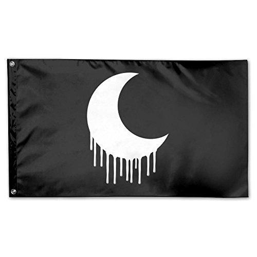 UDSNIS Edgy Goth Crescent Moon Garden Flag 3 X 5 Flag For Ya