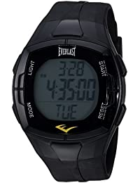 Automatic Plastic and Rubber Fitness Watch, Color:Black (Model: EVWHR002BK)