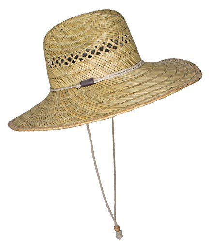 Mens straw sun hat large