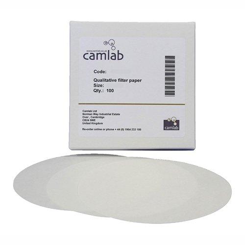 Camlab 1171100 Grade 118 Very Slow Filtering 5 Qualitative Filter Paper 110 mm Diameter Pack of 100