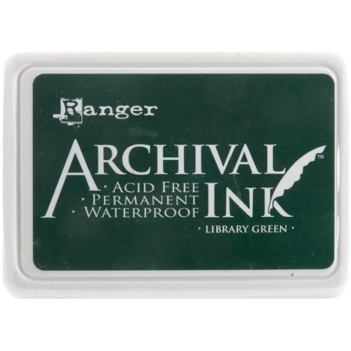 Ranger AIP-31475 Archival Inkpad, Library Green