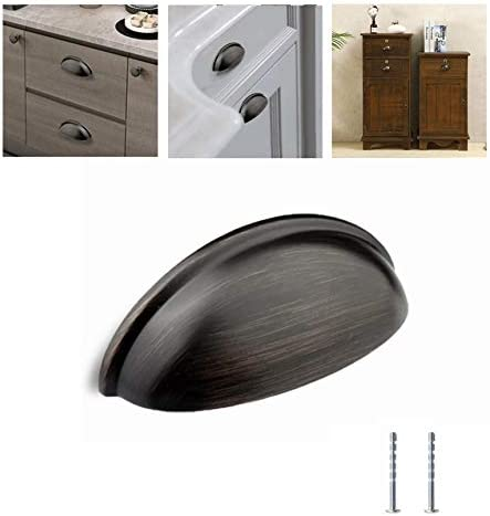 "3/"" Oil Rubbed Bronze Kitchen Bathroom Cabinet Drawer Turn Pulls"