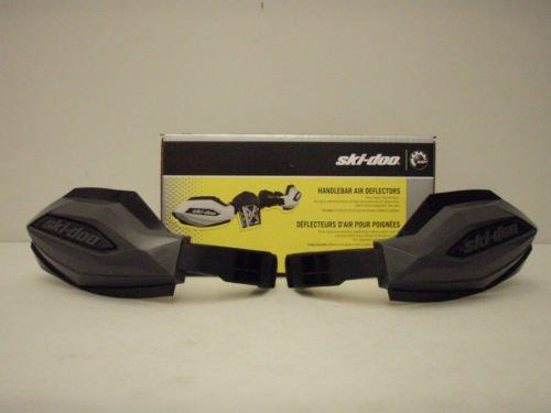 Ski Doo Handlebar (Ski-Doo OEM Hand Guard Handlebar Wind Deflectors Kit - Black 860200712)