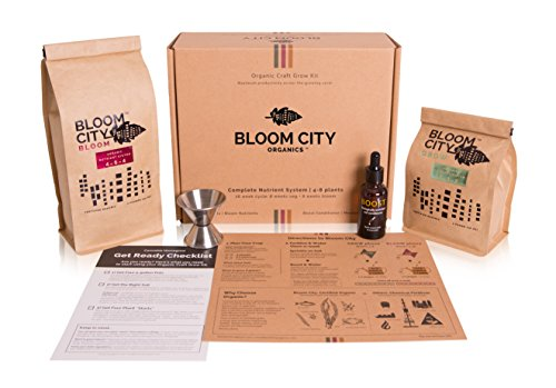Bloom City 100% Organic Craft Grow Kit - Complete 16 Week Veg & Bloom Nutrient System