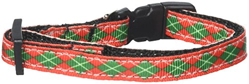 Ribbon Christmas Dog Collar Pet (Mirage Pet Products Christmas Argyle Nylon Ribbon Collar, Small)
