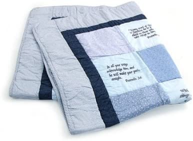 Bible Bed Blankets Verse Baby Quilt Beautiful Cotton Embroidered With Unique