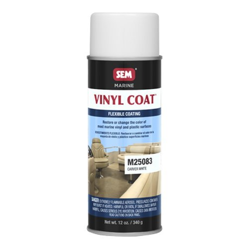 SEM M25083 Carver White Marine Vinyl Coat - 12 oz.