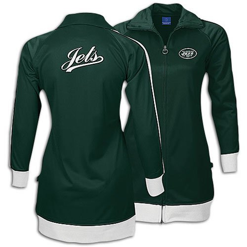 Jets Reebok Women's NFL Dress E. Track Jacket ( sz. S, Green : Jets ) ()